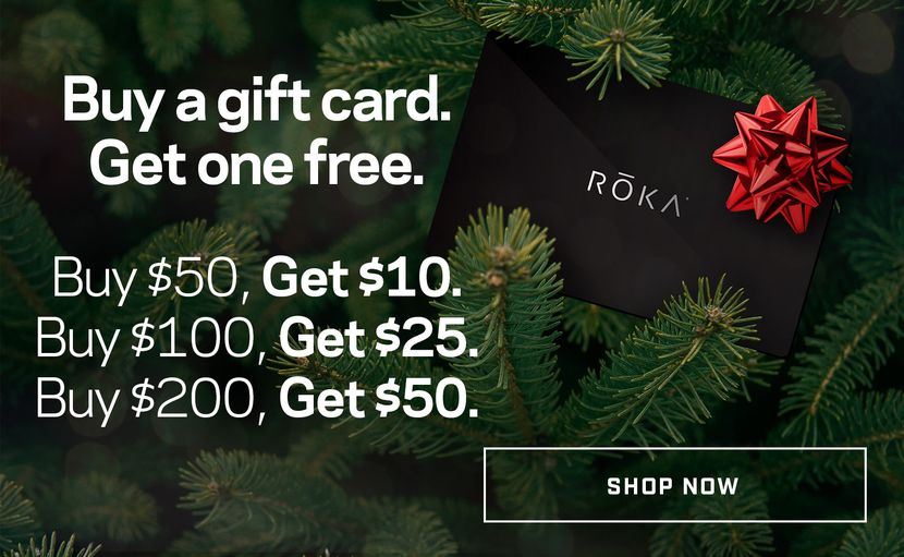 Buy a gift card. Get one free. Buy $50, Get $10. Buy $100, Get $25. Buy $200, Get $50.