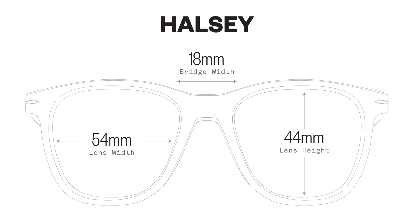 Halsey measurement illustration