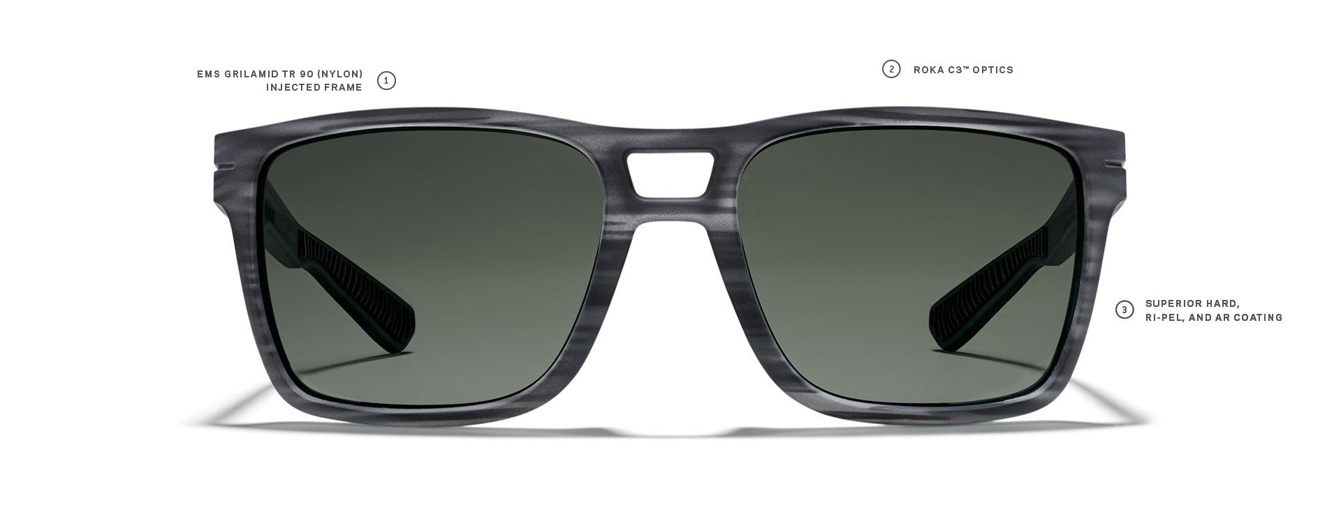 a1b8dcefd09 Square Sunglasses - Premium Nylon Lens - Running Sunglasses